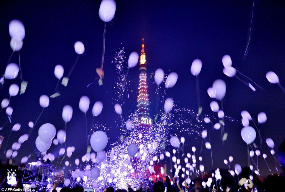 احتفالات عام اليابان 2014، ثقف نفسك2 الاحتفالات بالعام الجديد 2014 في جميع أنحاء العالم صور