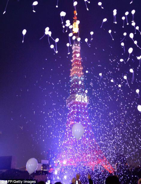 احتفالات عام باريس 2014، ثقف نفسك2 الاحتفالات بالعام الجديد 2014 في جميع أنحاء العالم صور