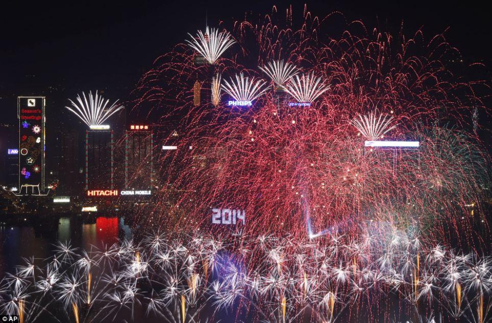 احتفالات عام كوريا الجنوبية 2014، ثقف نفسك2 الاحتفالات بالعام الجديد 2014 في جميع أنحاء العالم صور