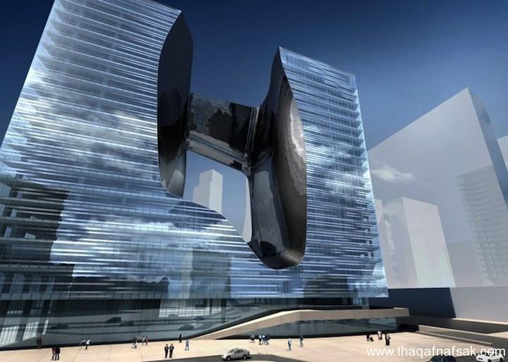 البرج العائم بدبي ثقف نفسك 3 البرج العائم بدبي ..... تصميم هندسي مدهش