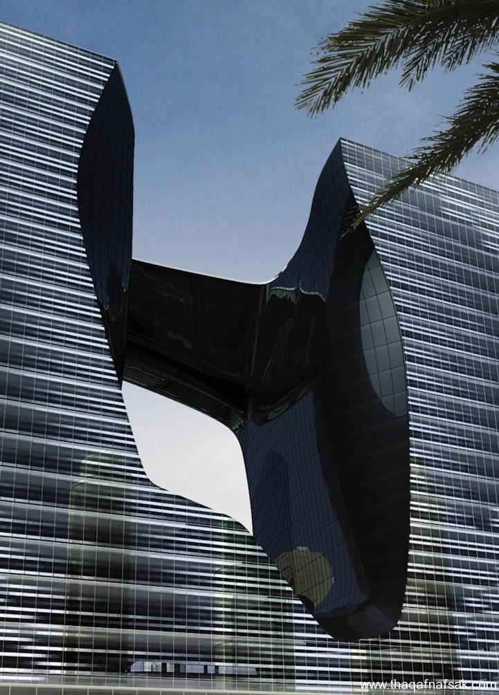 البرج العائم بدبي ثقف نفسك 4 البرج العائم بدبي ..... تصميم هندسي مدهش