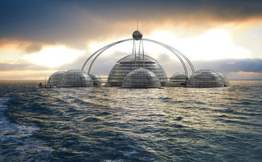 المنازل الكروية في المياه … المعمار الحديث المدينة-ال�