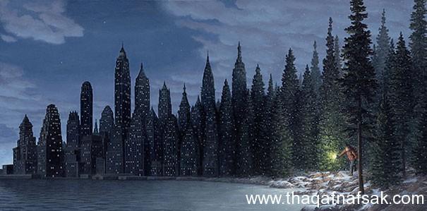 Rob Gonsalves رسام كندى يمزج الواقع و الخيال في لوحاته  أقرا علي موقع ثقف نفس %D8%A7%D9%84%D9%88%D