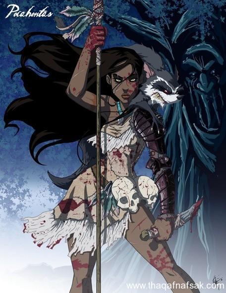 بوكاهنتس www.thaqafnafsak.com  الوجه الشرير لشخصيات ديزني الشهيرة !