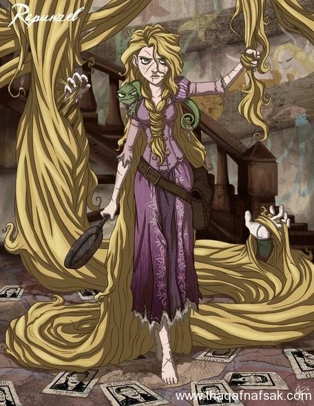 رابنزل www.thaqafnafsak.com  الوجه الشرير لشخصيات ديزني الشهيرة !