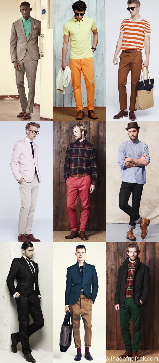 Colour Matching Clothes And Shoes For Men