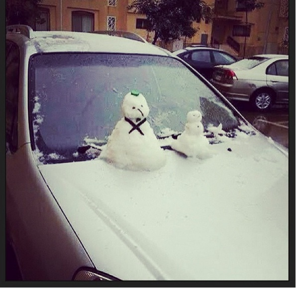 صور تساقط الثلوج في مصر