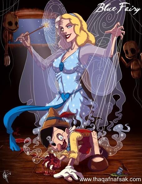 سندريلا www.thaqafnafsak.com  الوجه الشرير لشخصيات ديزني الشهيرة !