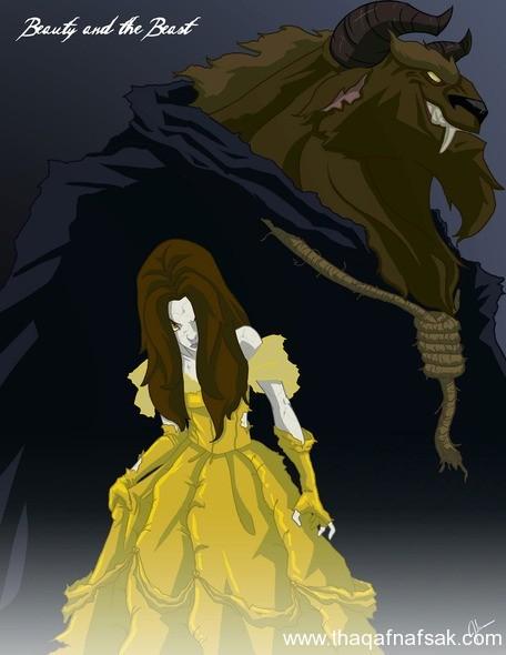 سنو وايت www.thaqafnafsak.com  الوجه الشرير لشخصيات ديزني الشهيرة !