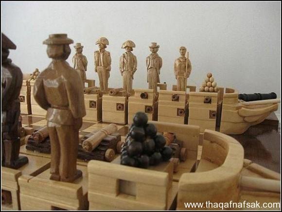 شطرنج على شكل سفينة . ثقف نفسك 2222