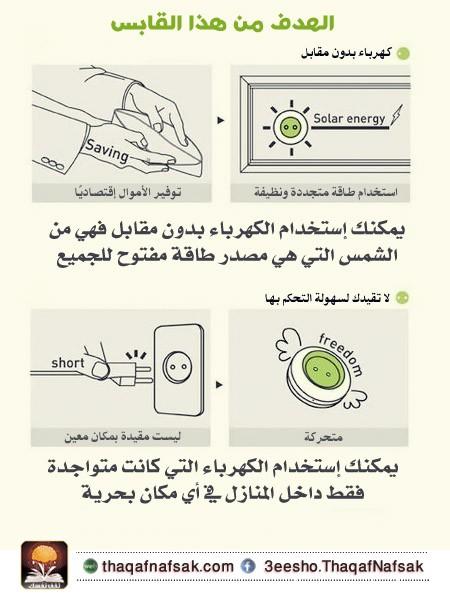 قابل كهرباء يعمل بالطاقة الشمسية، ثقف نفسك 8