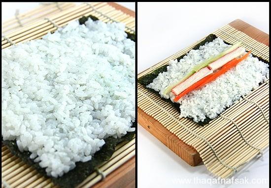 طريقة عمل السوشي بالصور كيفية-عمل-ا