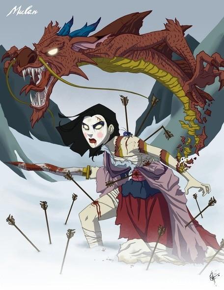مولان www.thaqafnafsak.com  الوجه الشرير لشخصيات ديزني الشهيرة !