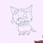 كيفية رسم كلب كرتوني بأوضاع وأشكال مختلفة بالصور 10479118_74668905870