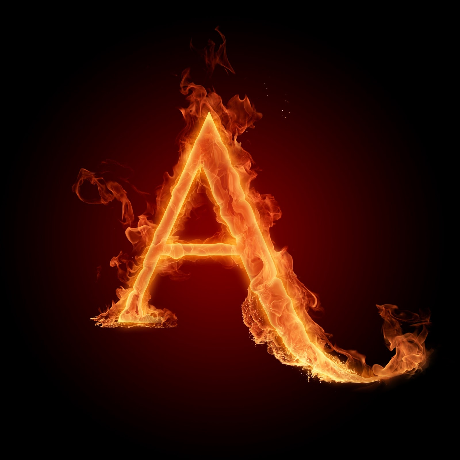 خلفيات حرف A a  لسطح المكتب The-letter-A-the-alp