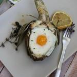 طريقة عمل البيض المخبوز في الخرشوف بالصور البيض-المخ�