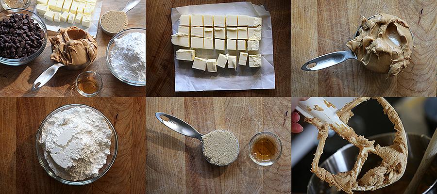 حلوى زبدة الفول السوداني والشيكولاته