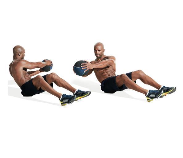 تمارين تقسيم عضلات البطن12