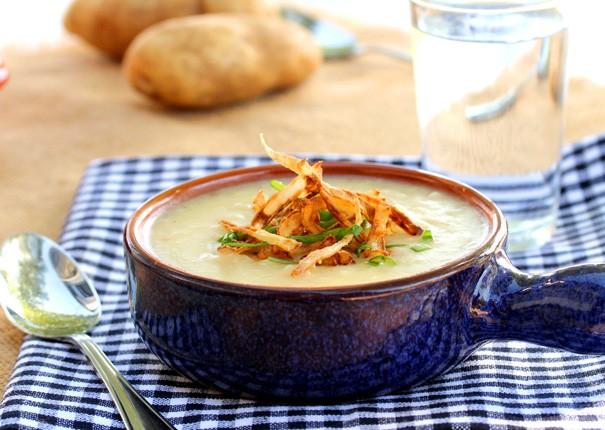 وصفة شهية لعمل شوربة البطاطس بالثوم المقلي بالصور21