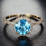 أروع أشكال خاتم الخطوبة من حجر الياقوت بالصور10