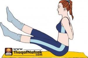 تمارين بسيطة لتخسيس البطن والجانبين والارداف 6