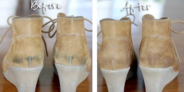 طريقة تنظيف أحذية الشمواه بالصور
