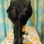 عمل تسريحة شعر ذيل السمكة المعكوسة بالصور 8