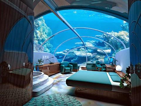 غرف فنادق مذهلة تحت الماء 14