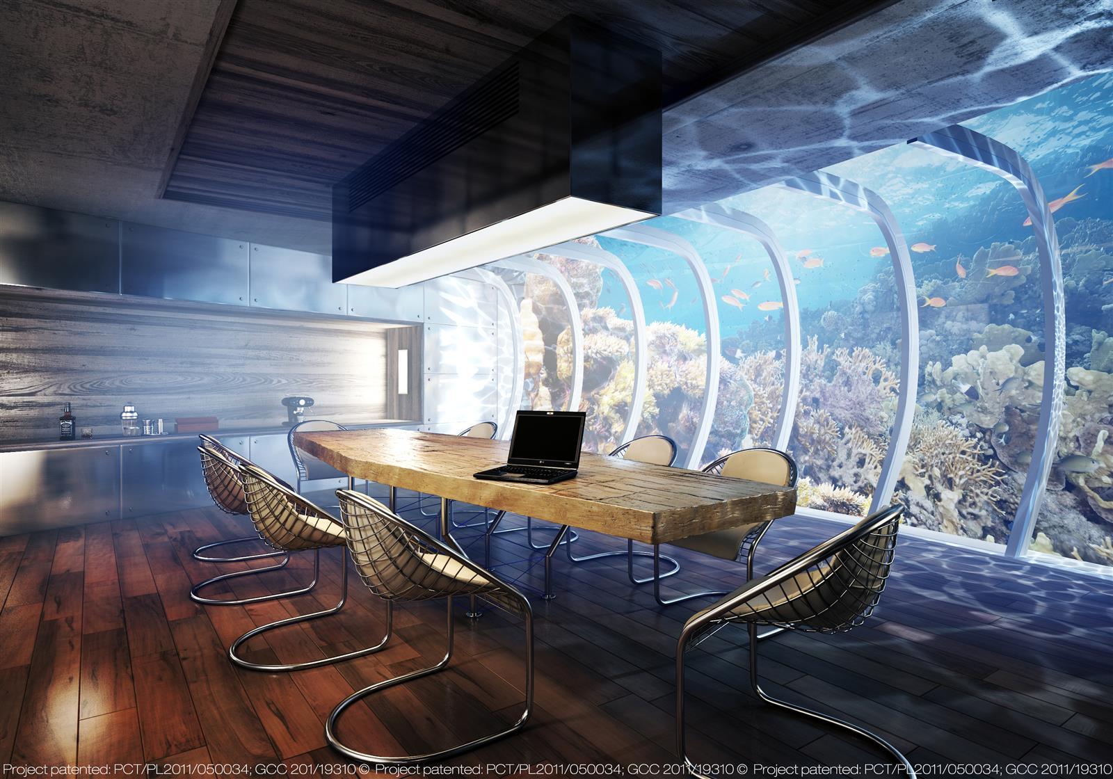 غرف فنادق مذهلة تحت الماء 30