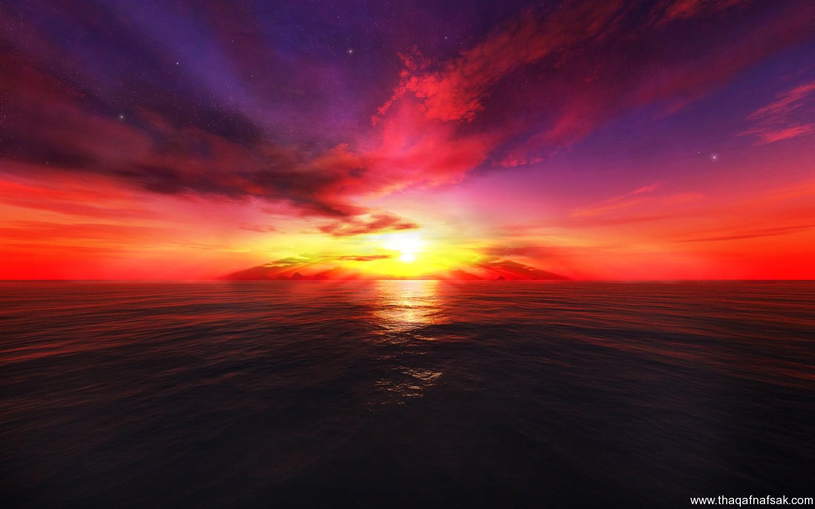 كيف يكون لون السماء ازرق في الشروق أو أحمر في الغروب - photo#47