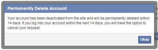 ثقف نفسك . حذف حساب فيس بوك