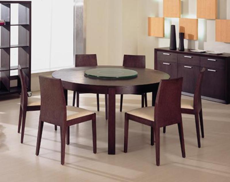 Ferrara Modern Round Wood Dining Table