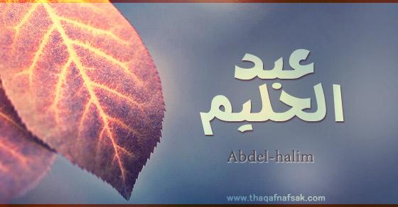 معنى اسم عبد الحليم