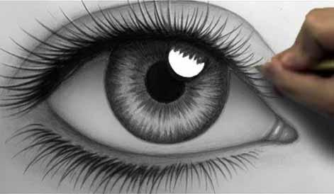 كيف ترسم العين البشرية الحقيقية