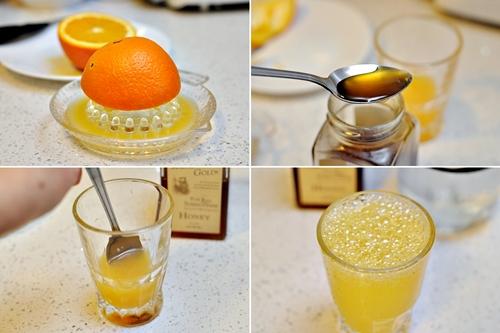 عصير البرتقال والعسل