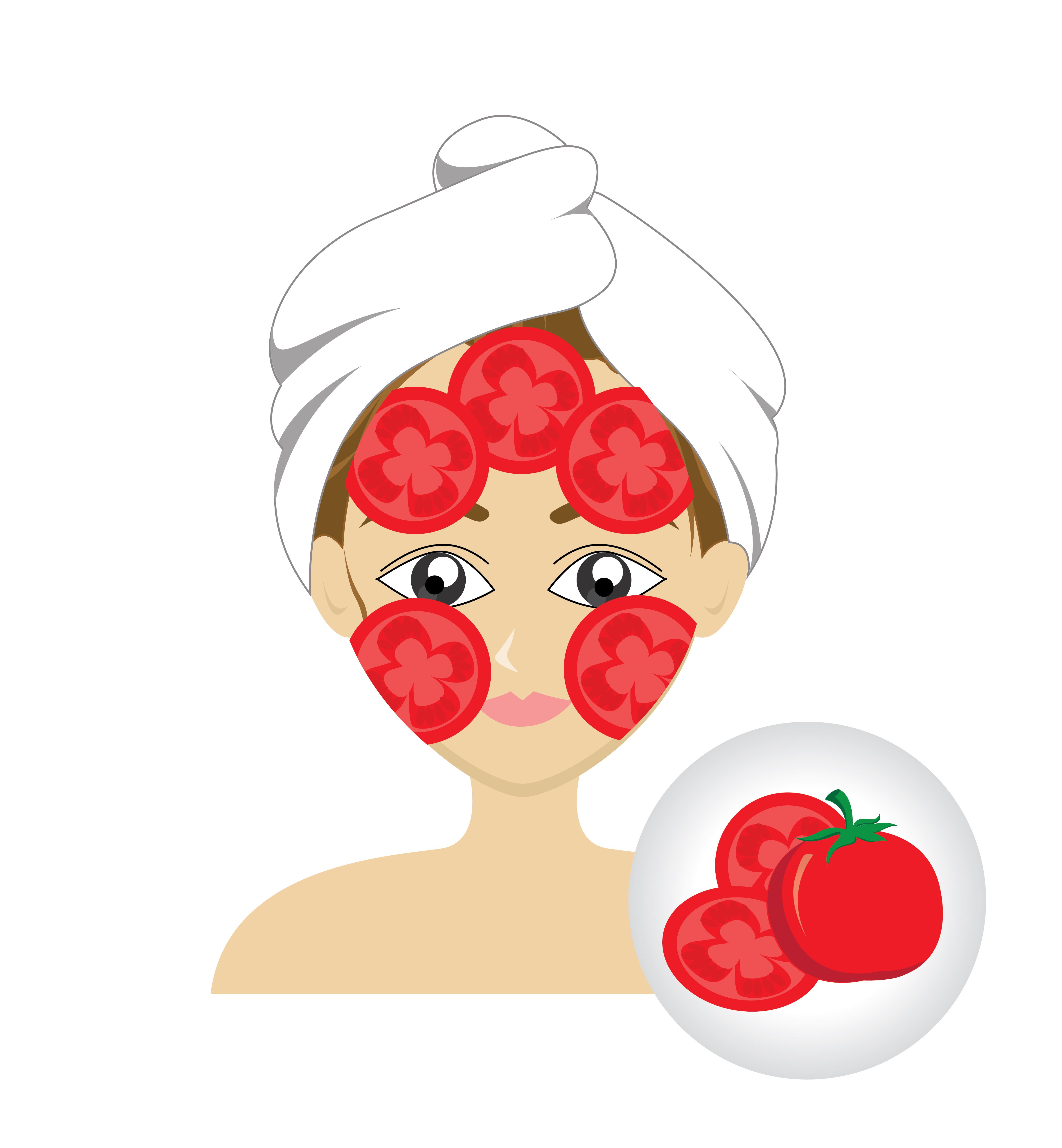 طريقة عمل ماسك الطماطم للوجه
