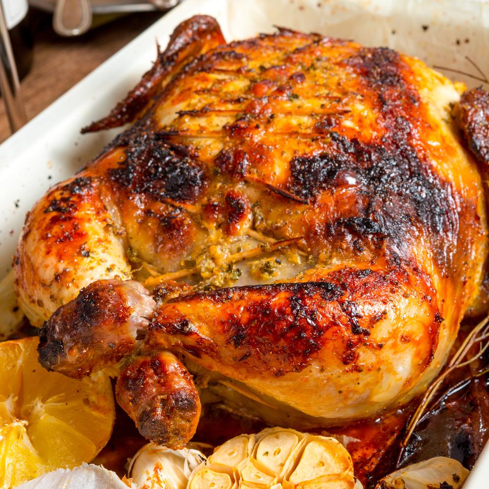 طريقة تقطيع الدجاج المشوي