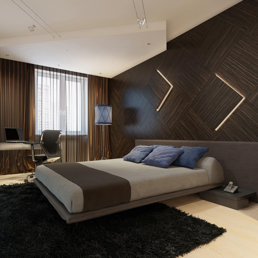ديكورات وموديلات متميزة لغرف نوم باللون البني 2015