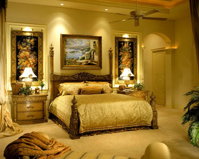 للعرسان أحدث مودلات غرف نوم 2015 باللون الذهبي (جزء 1)