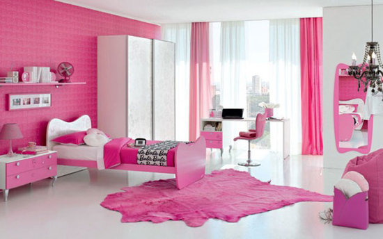 ديكورات غرف نوم ٢٠١٥ باللون الوردي العصري والمودرن