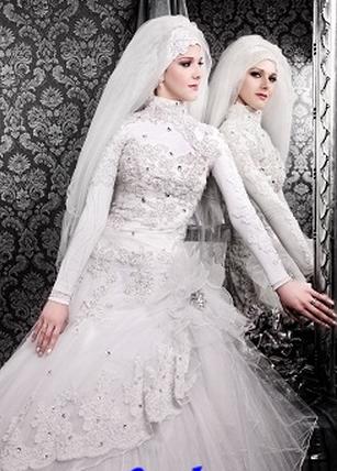 2a1431de8ac95 أشيك فساتين زفاف محجبات 2015 موديلات حديثة ومتميزة