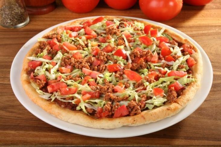 البيتزا بالبرجر