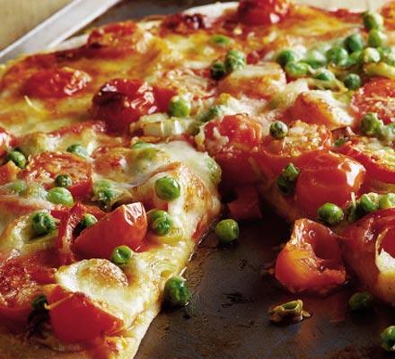البيتزا بالبازلاء