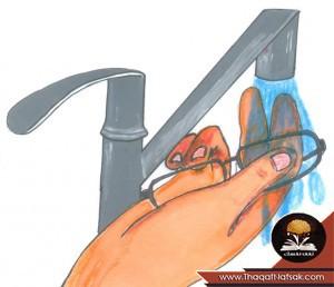 aefddc85e و في النهاية ، قم بتلميع عدسات النظارة الطبية من خلال مسحها بقطعة قماش  قطنية جافة أو قماش ستوكات .