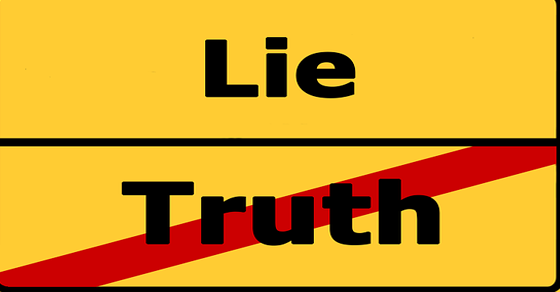 علامات الكذب