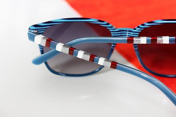 تزيين النظارة الشمسية بطلاء الأظافر ، لمسة جمالية