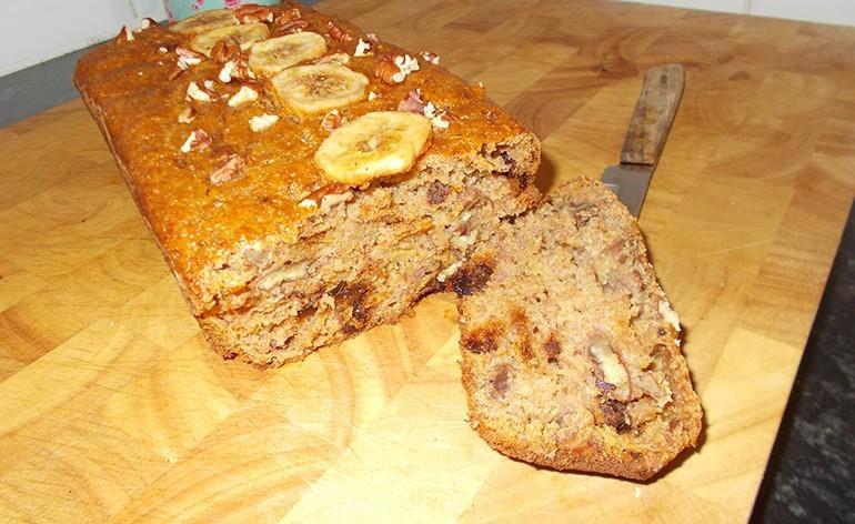 خبز الموز الشهي