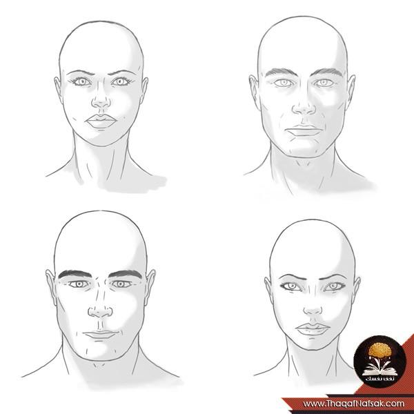 رسم وجه المرأة و الرجل