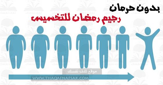 رجيم رمضان لإنقاص الوزن بنهاية الشهر بدون حرمان ثقف نفسك