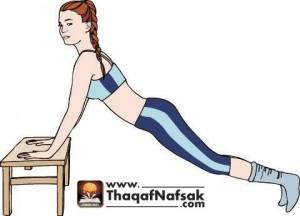 تمارين بسيطة لتخسيس البطن والجانبين والارداف 5